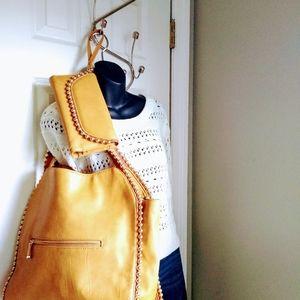 Big Buddha Studded XL Shoulder Bag w/ wristlet